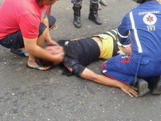 Acidente envolvendo moto e caminhão deixa quatro vítimas em estado grave em Oeiras 2