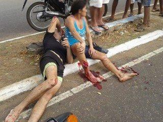 Acidente envolvendo moto e caminhão deixa quatro vítimas em estado grave em Oeiras 4
