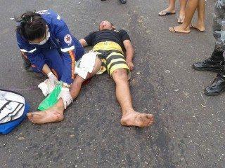 Acidente envolvendo moto e caminhão deixa quatro vítimas em estado grave em Oeiras 6