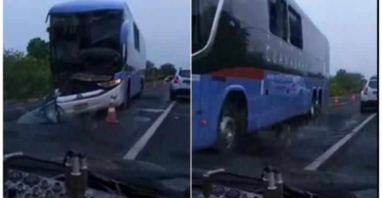 Ônibus da Guanabara se envolve em acidente e deixa feridos na BR-343 1