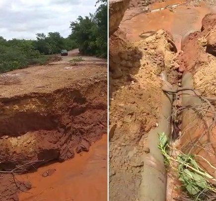 Ponte se rompe e deixa várias famílias isoladas após forte chuva no interior do Piauí 1