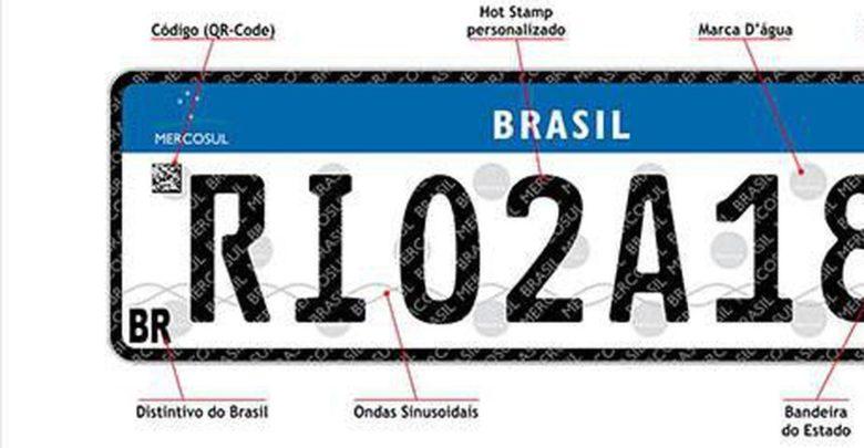 Placas com padrão do Mercosul entram em vigor em todo o país 1