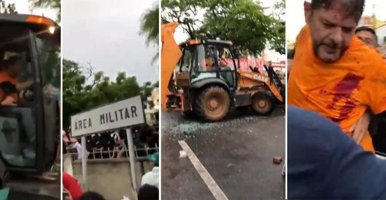 Senador Cid Gomes é baleado após atacar batalhão com retroescavadeira 1
