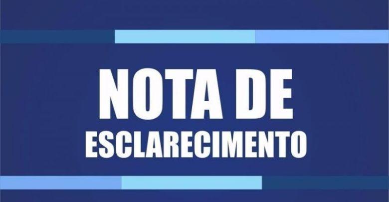 NOTA DE ESCLARECIMENTO! 1