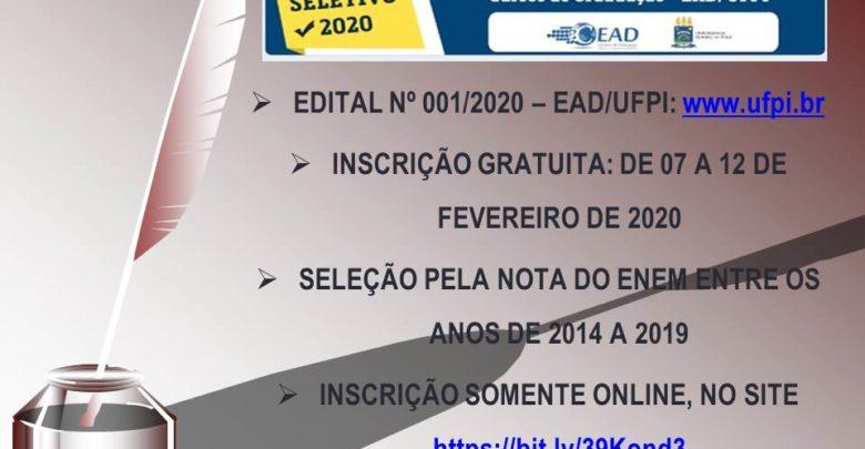 Iniciam hoje (07) inscrições para cursos à distância na UFPI pela nota do Enem 1