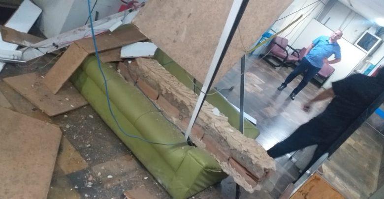 Teresina: Teto do 5° andar onde funciona a Secretaria de Meio Ambiente desaba 1