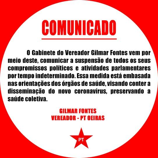 Sindicato dos Trabalhadores Rurais de Oeiras suspende atendimento presencial até 13/04 2