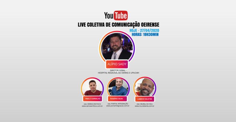 Live Coletiva de Comunicação oeirense hoje às 19h30min com Mural da Vila, Portal Integração e Oeiras em Foco 1