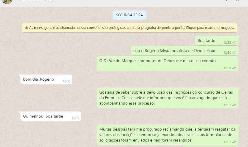 Empresa não devolve dinheiro de inscrição de concurso público cancelado em Oeiras 2