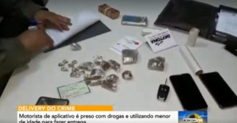 Motorista de app é preso com usando criança para entregar drogas em Teresina 1