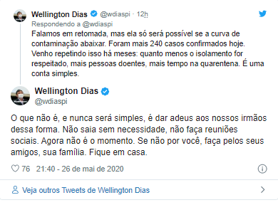 Governador fala em prorrogar quarentena após recorde de mortes no Piauí 3
