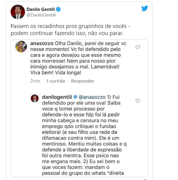 Danilo Gentili revela que Bolsonaro pediu sua demissão do SBT 2