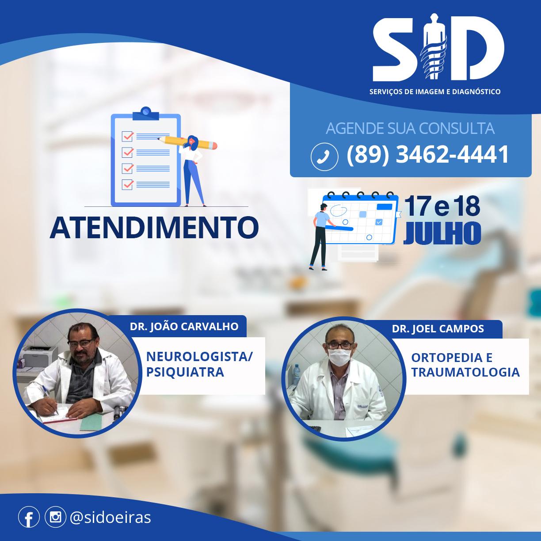 SID - Oeiras:  atendimento médico especializado nesta sexta e sábado 2