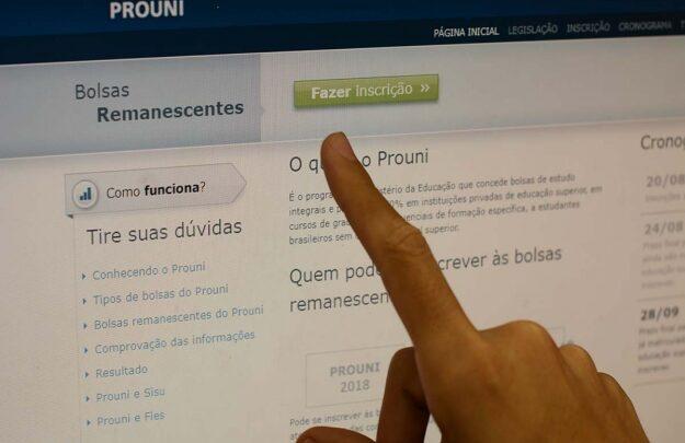 Inscrições para bolsas remanescentes do Prouni começam na terça-feira, 15 1