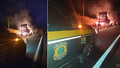 Carga de algodão é totalmente destruída após veículos pegarem fogo na BR 135 4