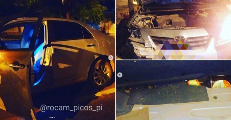 Professor da rede privada é flagrado bêbado e drogado ao volante em Picos 1