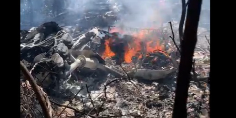 Avião bimotor cai em região de mata na zona Rural de Teresina 1