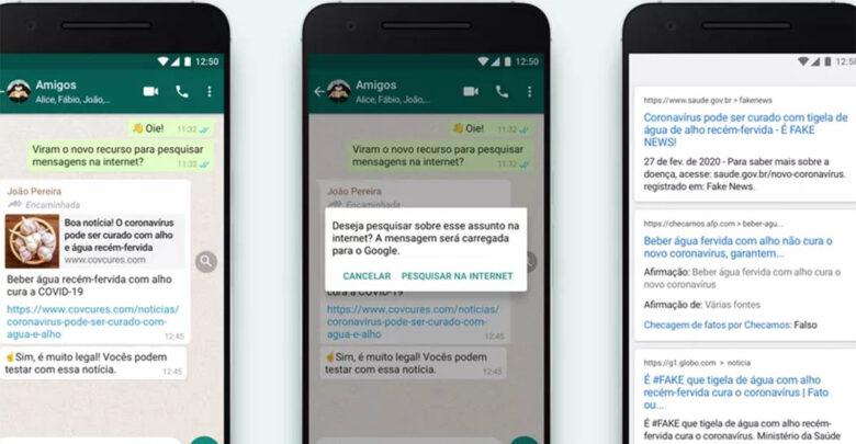 Para acabar com fake news, agora é possível pesquisar no Google dentro do Whatsapp 1