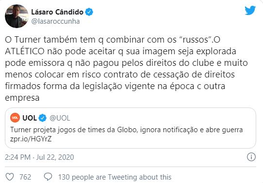 Globo vai à Justiça para impedir Turner de transmitir jogos de clubes com os quais não tem contrato 3