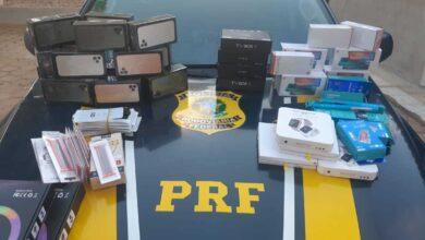 PRF apreende carga de eletrônicos avaliada em R$ 130 mil na BR-135  em Bom Jesus (PI) 5