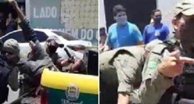 PMs usam força e arremessam suspeito de roubo em viatura em Campo Maior 3