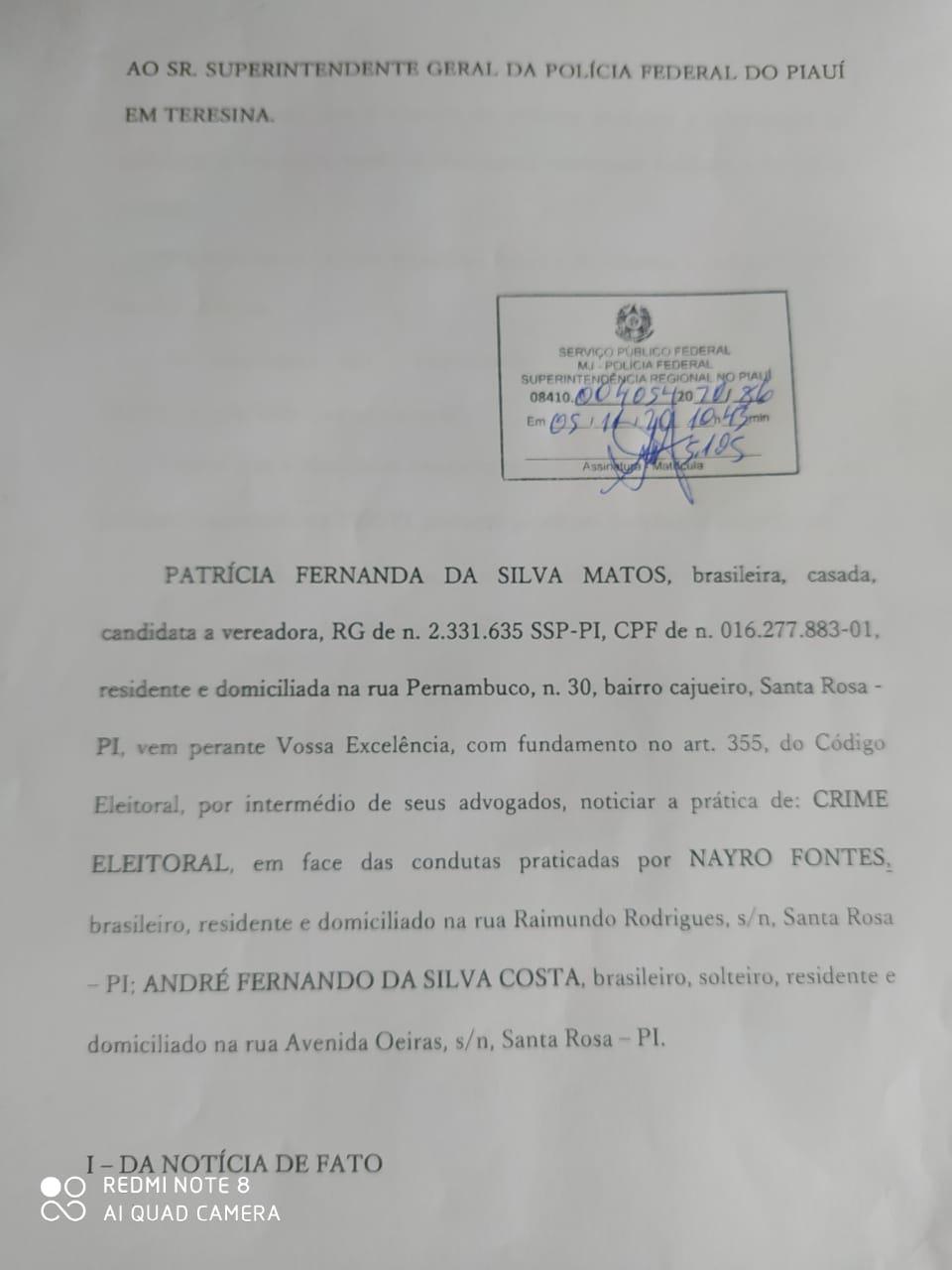 Secretário Municipal de Santa Rosa do Piauí é denunciado na Policia Federal por divulgação de Fake News 2