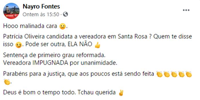 Secretário Municipal de Santa Rosa do Piauí é denunciado na Policia Federal por divulgação de Fake News 3