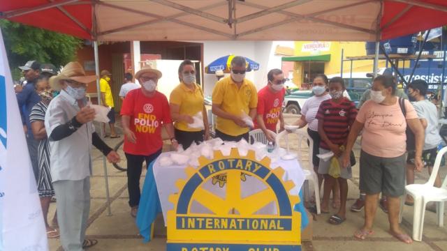 Rotary Club de Oeiras doa máscaras descartáveis 3