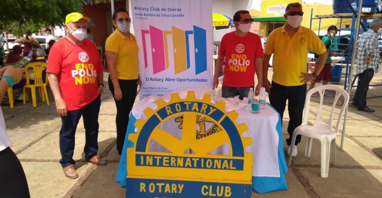 Rotary Club de Oeiras doa máscaras descartáveis 1