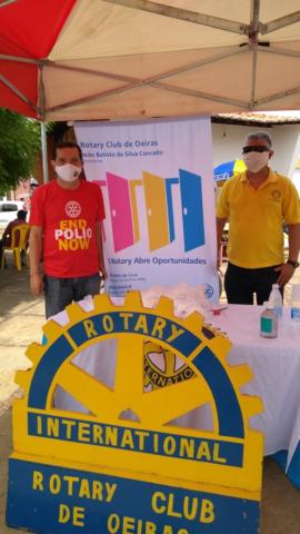 Rotary Club de Oeiras doa máscaras descartáveis 2